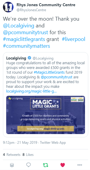 Localgiving distributes £92k in Magic Little Grants