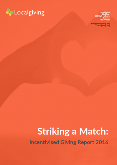Striking a Match: Incentivised Giving Report 2016